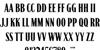 Whiskey Jill Demo Font Letters Charmap