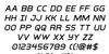 Inter-Bureau Italic Font Letters Charmap