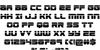 Speed Phreak Extra-Condensed Font Letters Charmap