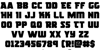 Rogue Hero Font Letters Charmap