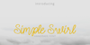Simple Swirl Font fog design