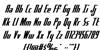 Hydro Squad Font Letters Charmap