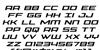 Phoenicia Italic Font Letters Charmap