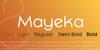 Mayeka Bold Demo Font design graphic