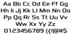 Xolonium Font Letters Charmap