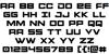 Montroc Font Letters Charmap