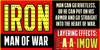 IRON MAN OF WAR Font text graphic