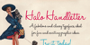 HaloHandletter Font dog text