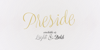 Preside PERSONAL USE ONLY Font handwriting text