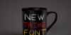 Tribal Font cup coffee