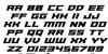 Paladins Font Letters Charmap