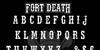 Fort Death Font text design