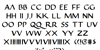Justinian Font Letters Charmap