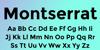 Montserrat Font poster