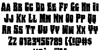 Bog Beast Regular Font Letters Charmap