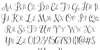 Janda Stylish Monogram Font Letters Charmap