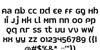 Peapod Thai Font Letters Charmap