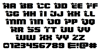 Army Rangers Regular Super-Expanded Font Letters Charmap