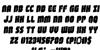 Shogunate Rotalic Font Letters Charmap