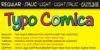 Typo Comica Font screenshot abstract