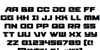Starcruiser Font Letters Charmap