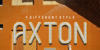 AXTON Font poster