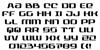 Range Paladin Font Letters Charmap