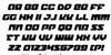 Legacy Cyborg Italic Font Letters Charmap