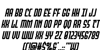 Peace & Houston Italic Font Letters Charmap