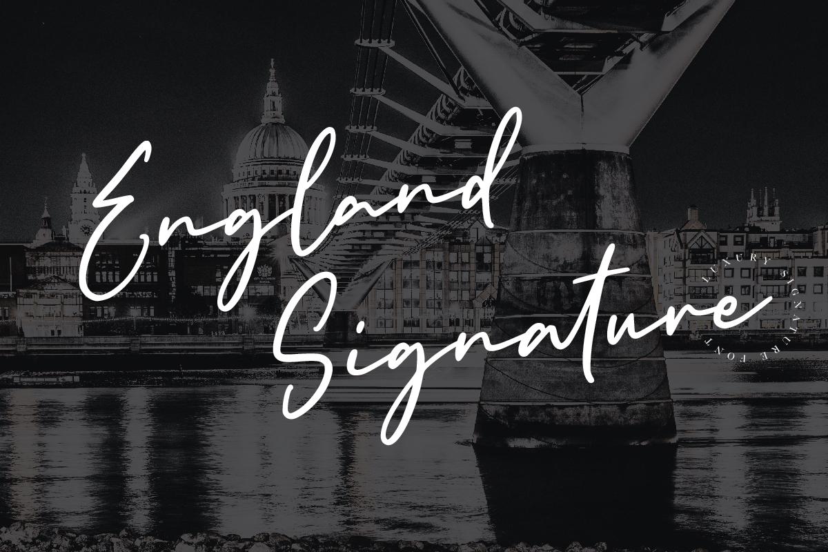 Download England Signature Font   Fontkong   FontSpace