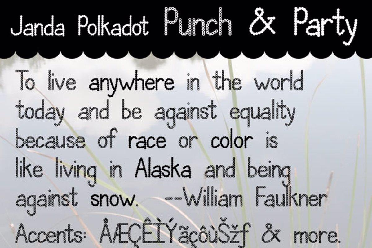 Janda Polkadot Punch Font Kimberly Geswein Fontspace