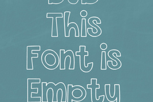 THIS FONT IS EMPTY