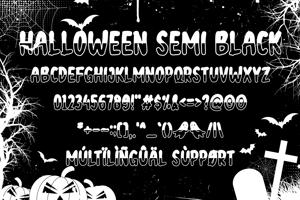 halloween semi black