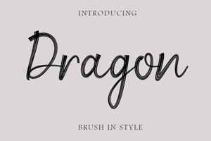 Dragon Brush Script