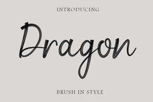 Dragon Brush Script