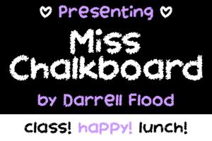 Miss Chalkboard