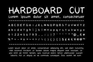 My Hardboard Cut