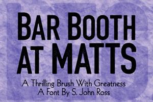 Bar Booth at Matts