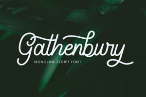 Gathenbury Monoline Script