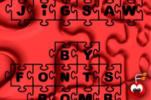 Fonts Bomb JiGSAW