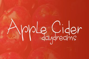 apple cider daydreams