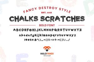 Chalk Scratches Rough