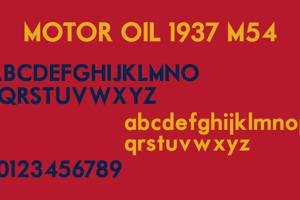 Motor Oil 1937 M54