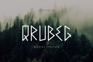 Qrubeg - Display Font