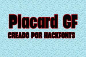 Placard GF