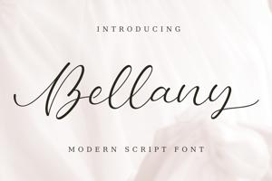 Bellany | Modern Script Font