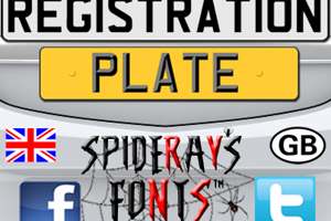 REGISTRATION PLATE UK
