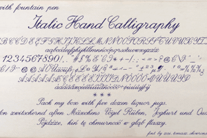 Italic Hand Calligraphy