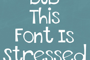 THIS FONT IS STRESSED - EURO
