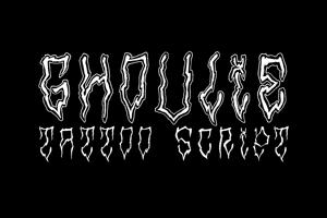 Ghoulie Tattoo Script